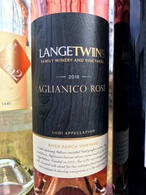 Lange Twins Aglianico Rose Lodi