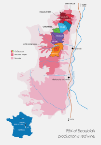 Beaujolais map