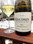 Knudsen Vineyards Chardonnay with Glass