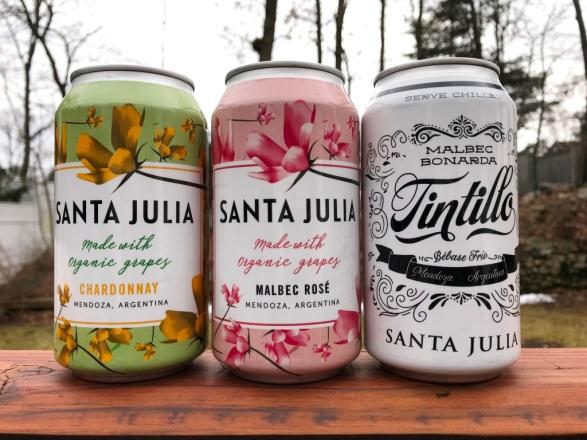 Santa Julia wine cans