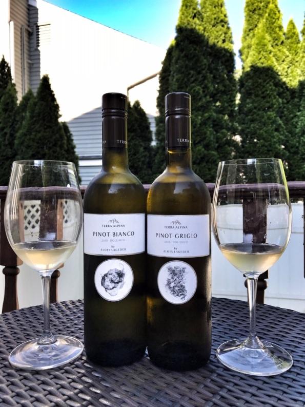 Terra Alpina wines with glasses