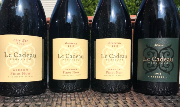 Le Cadeau Vineyard Pinot Noir wines