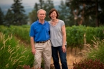 Tom and Deb Mortimer. Source: Le Cadeau Vineyard