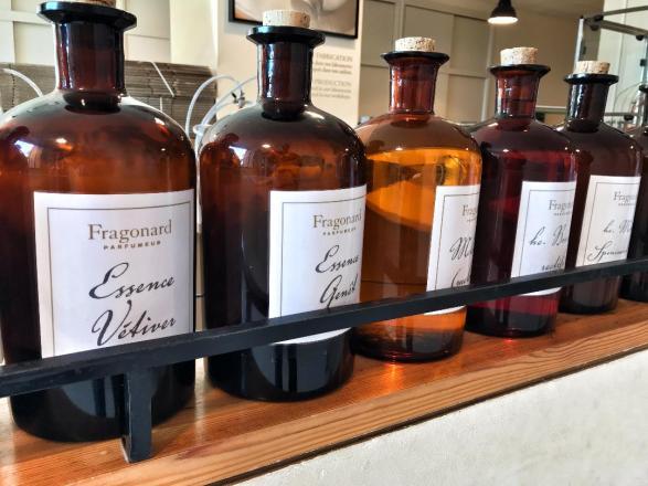 Essential Oils display at Fragonard