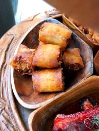 Polynesian restaurant appetizers pork spring roll