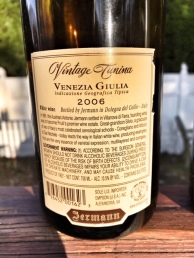 Jermann 2006 Back Label