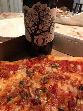 Oak farm Barbera with Pizza small