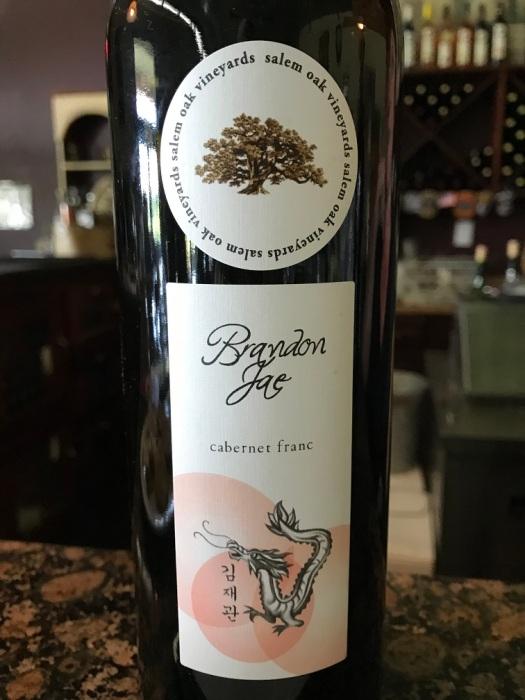 Salem Oak Vineyards Brandon Jae Cabernet Franc