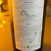 Salabka La Coquine Chardonnay back label