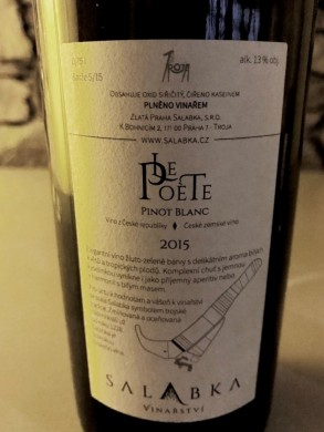 Salabka Le Poete Pinot Blanc back label